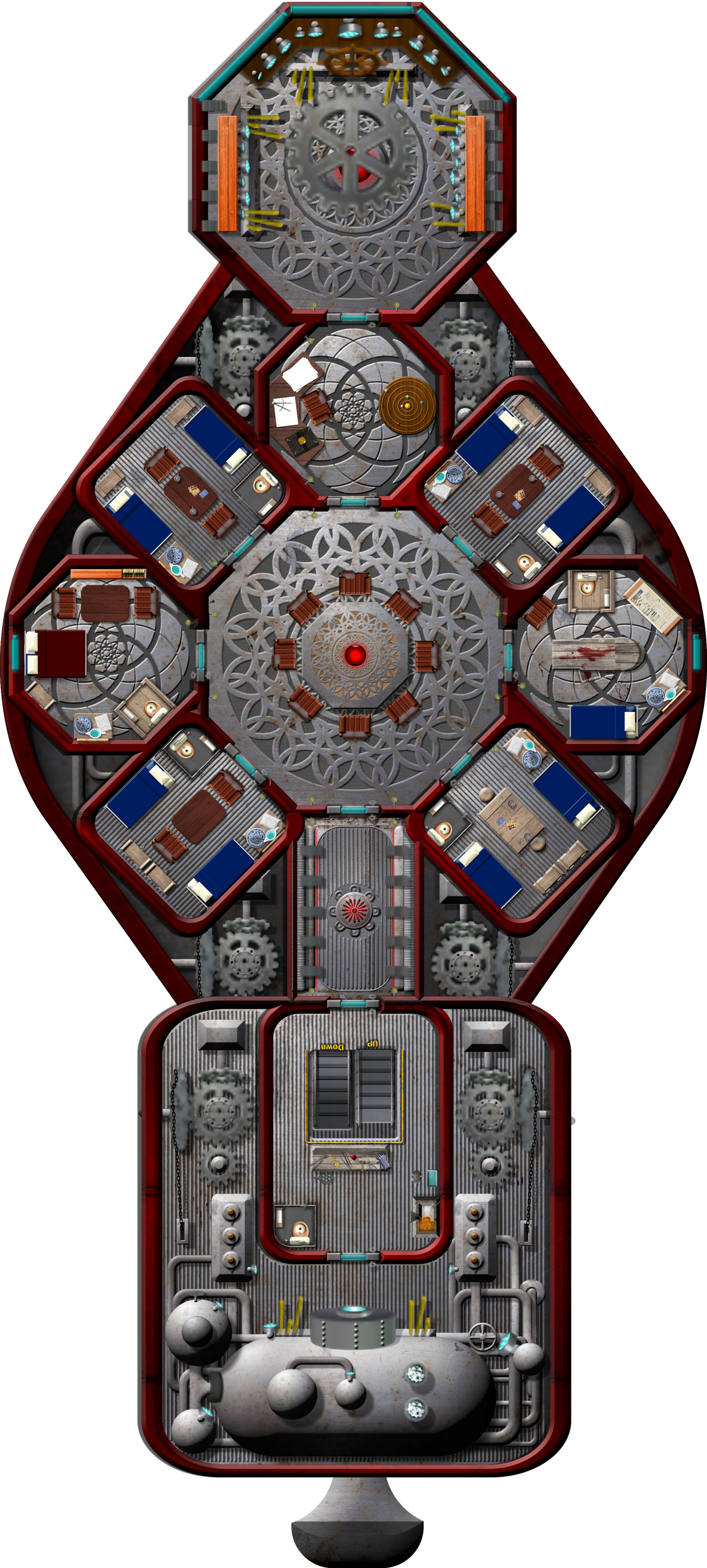 Big Ships Engine Rooms: Spelljammer And Exotic Sci-Fi Deck Plans