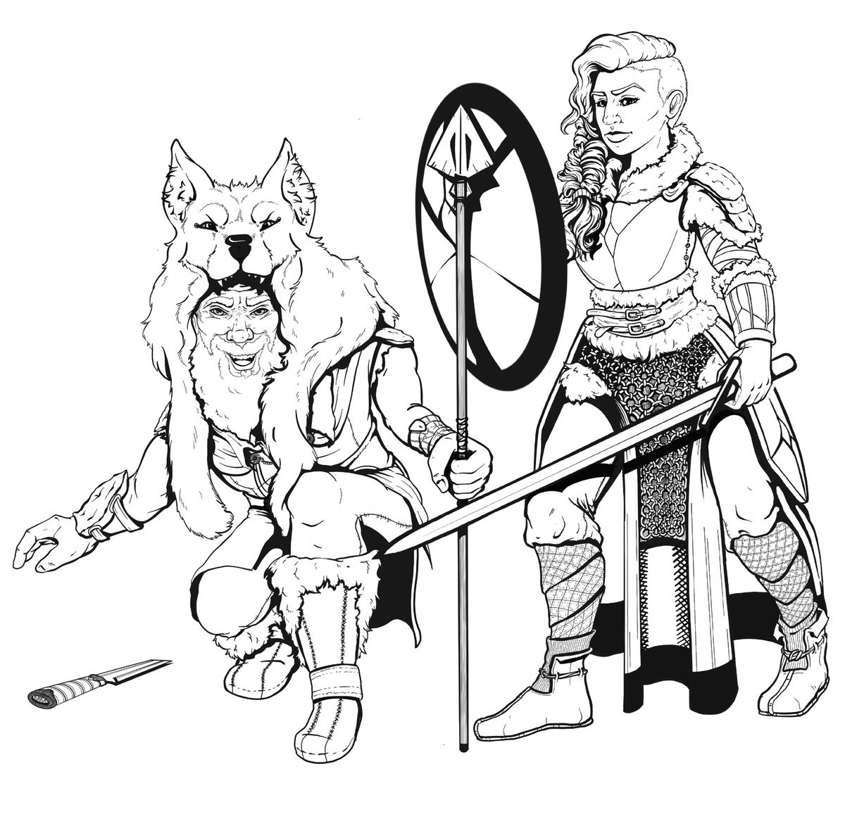 Viking with Shield-maiden