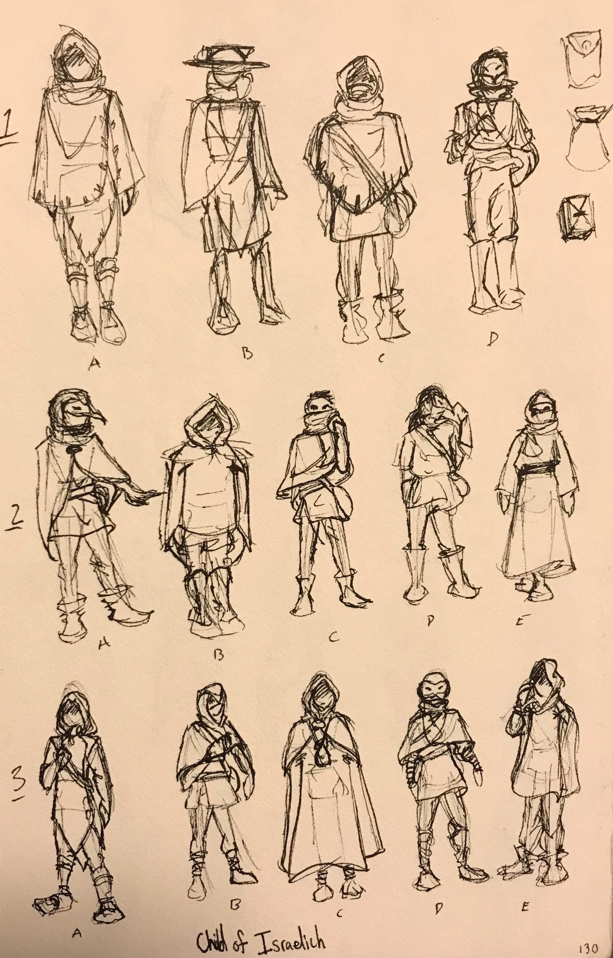 Passion project character design sketches