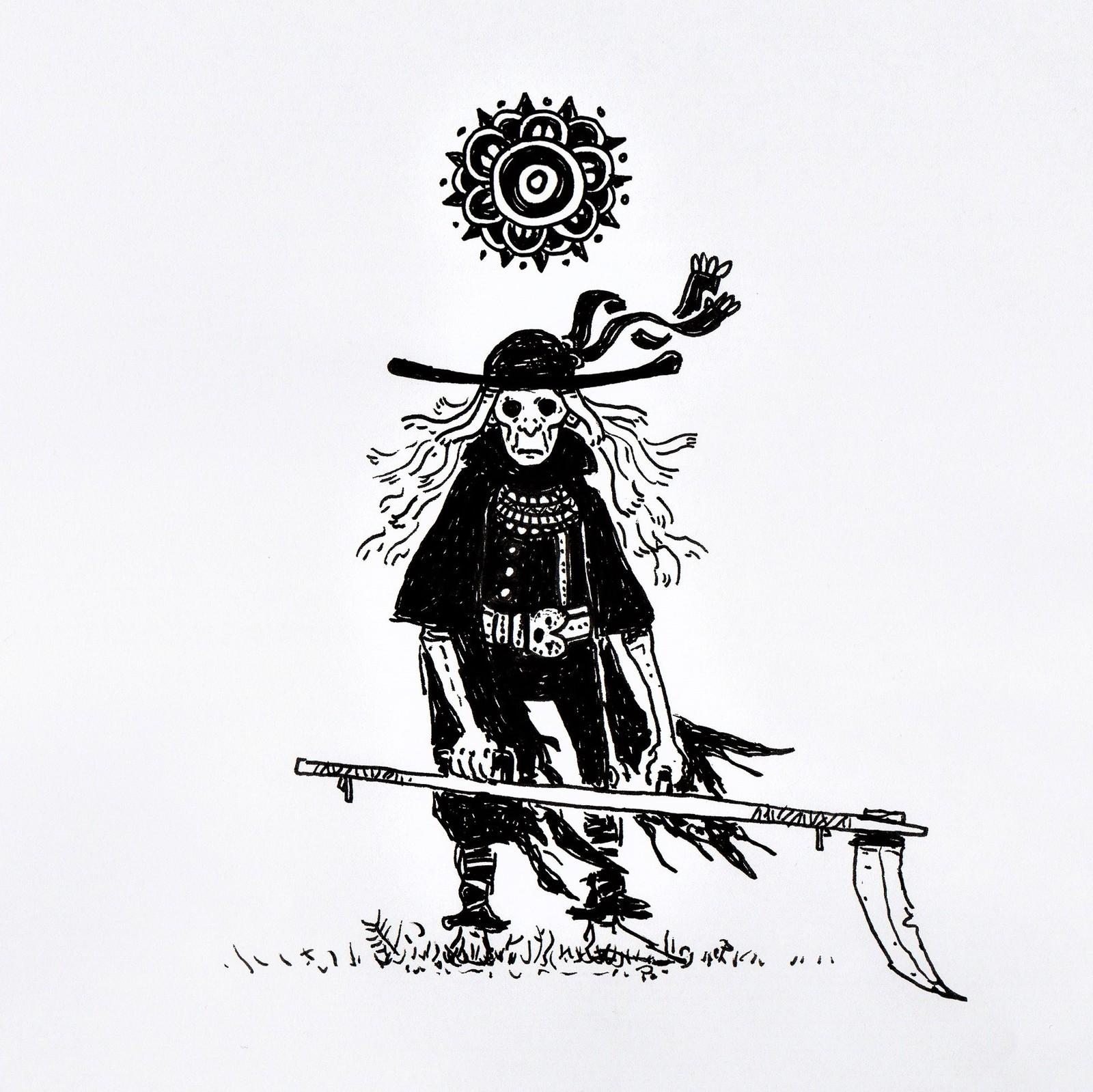 L'Ankou , l'ouvrier de la mort  (the death worker ) -folklore breton -