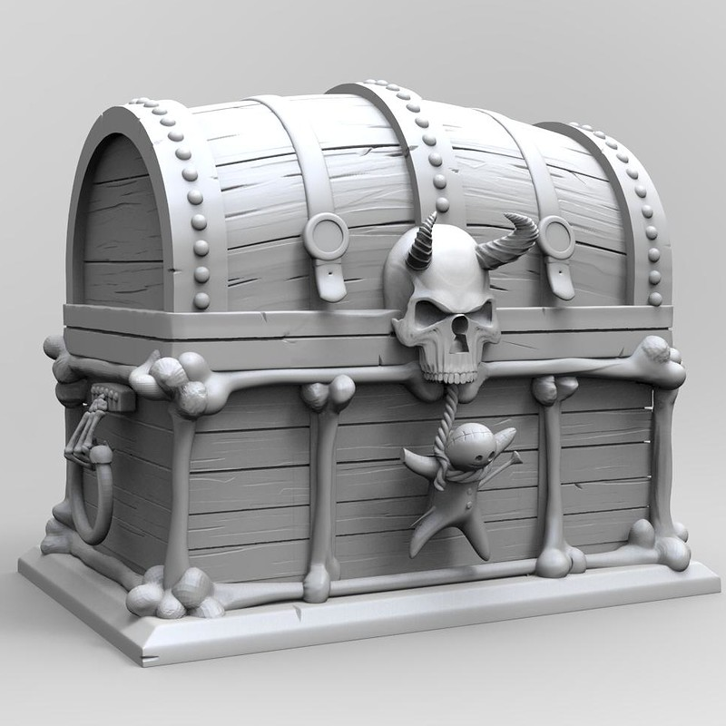 Cursed Chest - High Poly