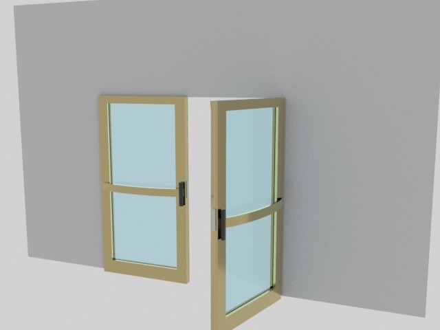 Lobby doors against wall