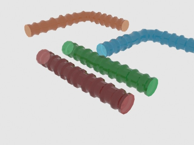 Hamster tubes zoomed out