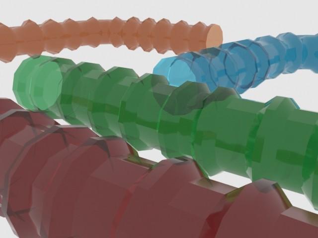 Hamster tubes zoomed in