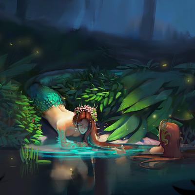 Finished mermaid pond