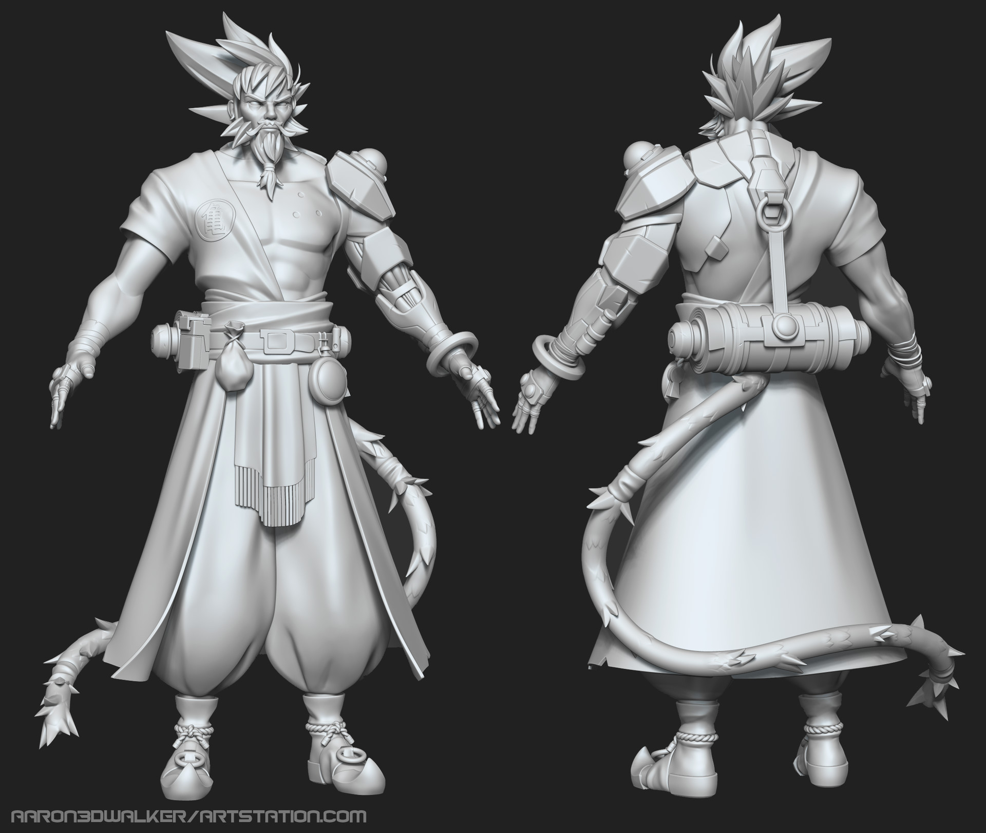 Aaron walker old goku zbrush