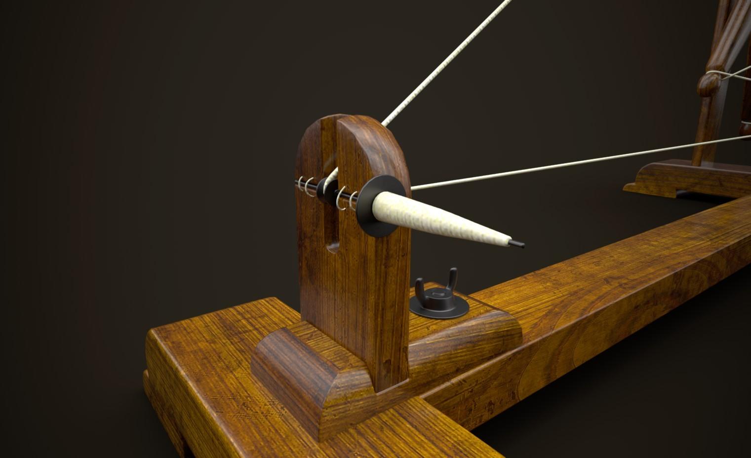 ArtStation - Charkha - The Handloom Spinning Wheel, Laxman