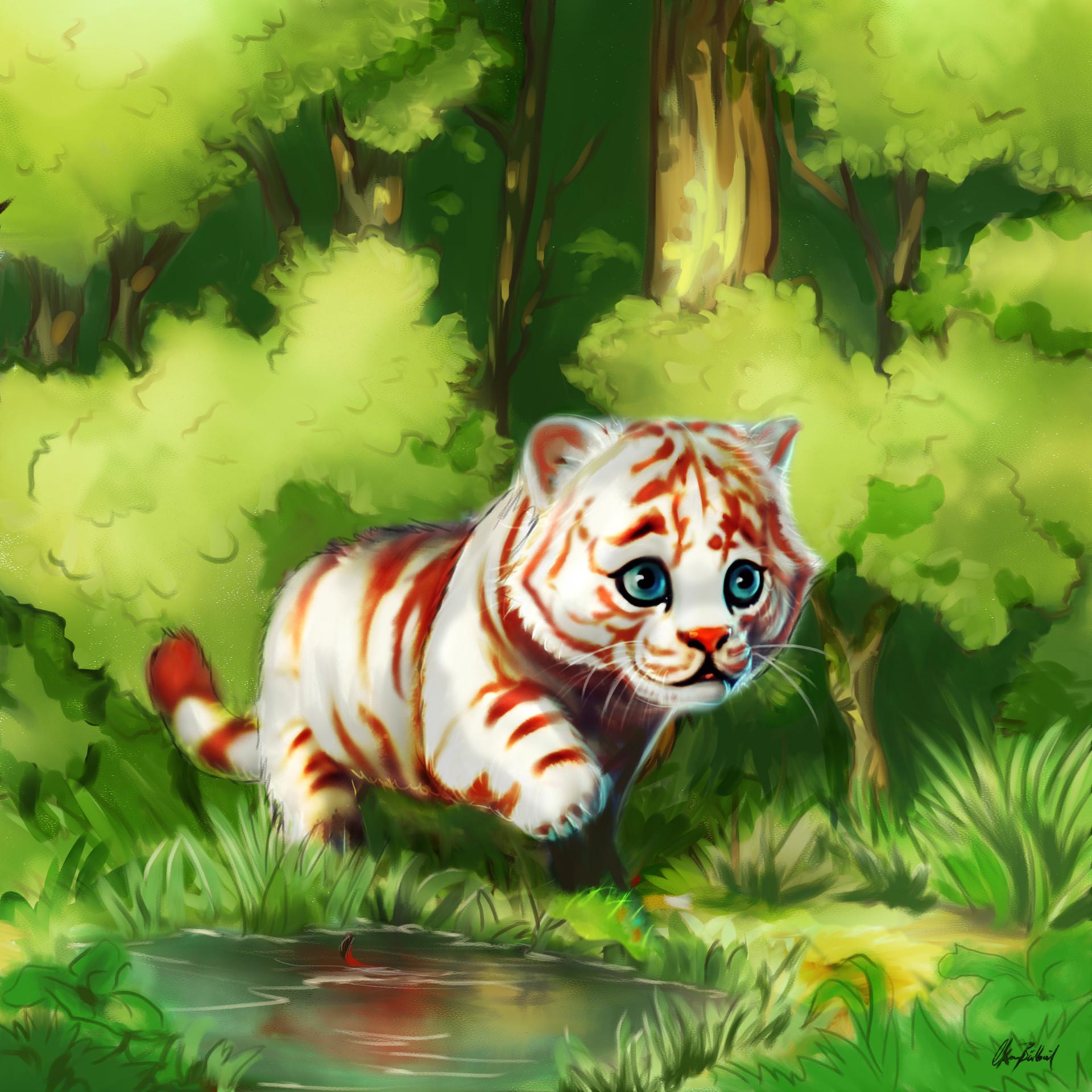 Okan bulbul white tiger001
