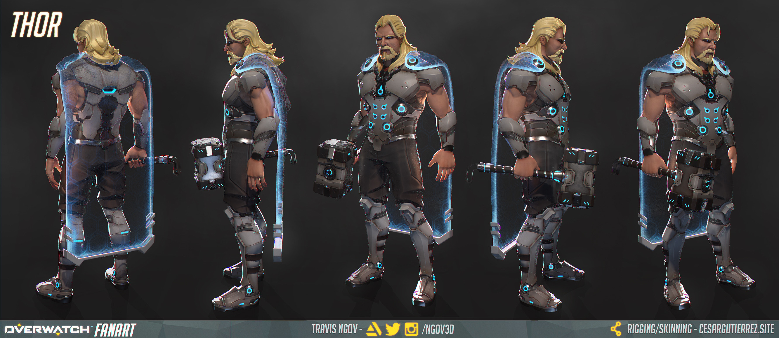 Thor - Turnaround (Posed + Alternative Cape)