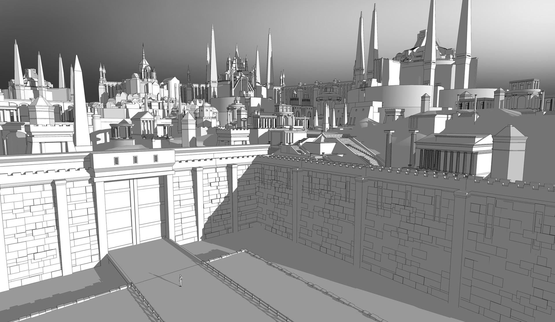 Ferdinand ladera gath ancient city sketchup