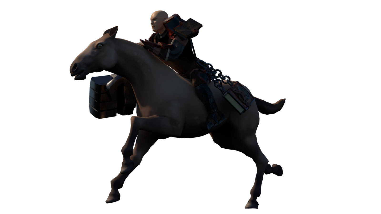 Cleric riding his horse