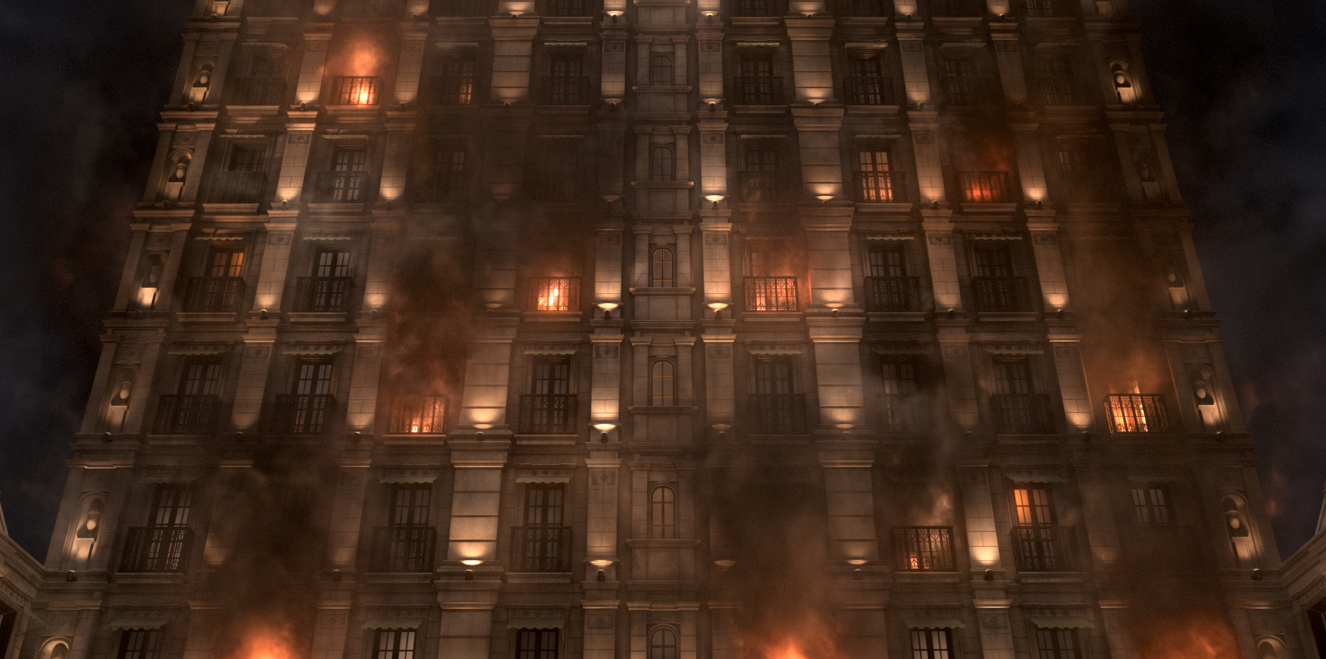 comped matte painting