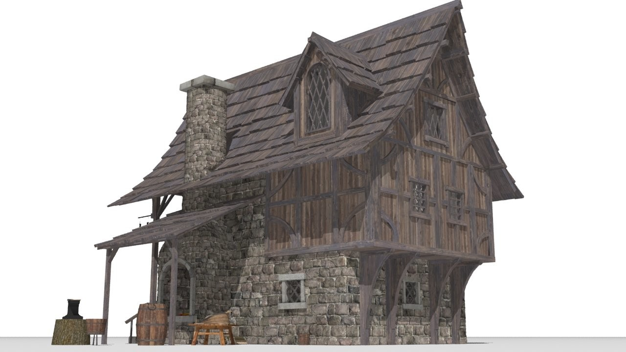 Davidson richetto boucher blacksmith shop 3d model c4d max obj fbx ma lwo 3ds 3dm stl 1068209 o