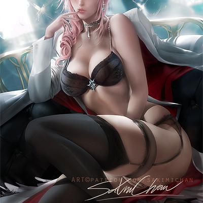 Sakimi chan lightning suit pinup nsfw 02