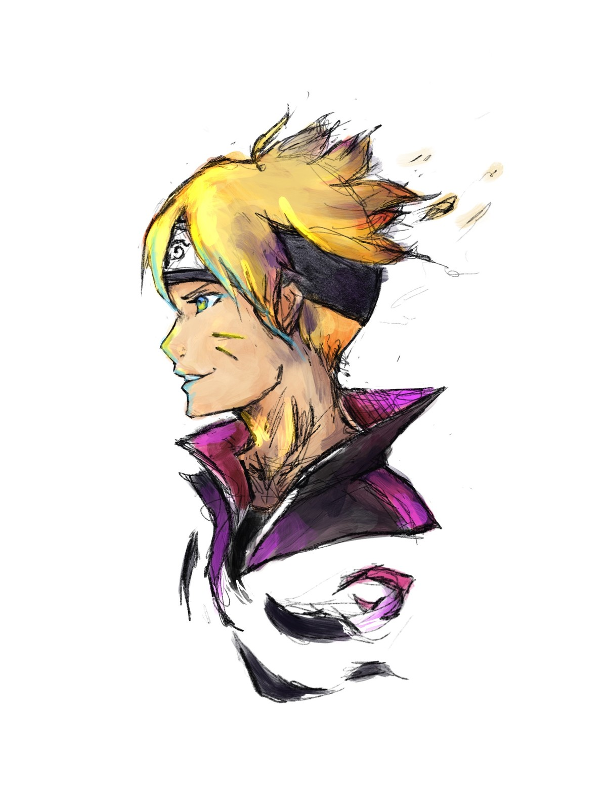 Boruto coloring in