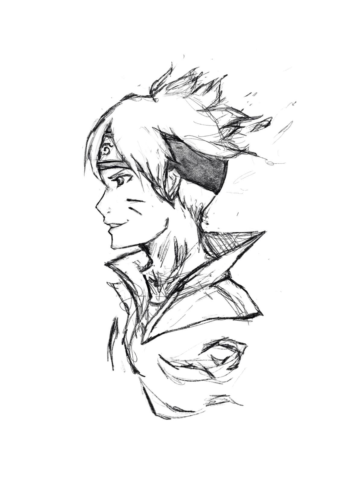 Boruto Initial Sketch