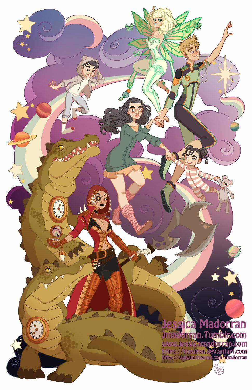 Jessica madorran character design peter pan space odessey illustration artstation01