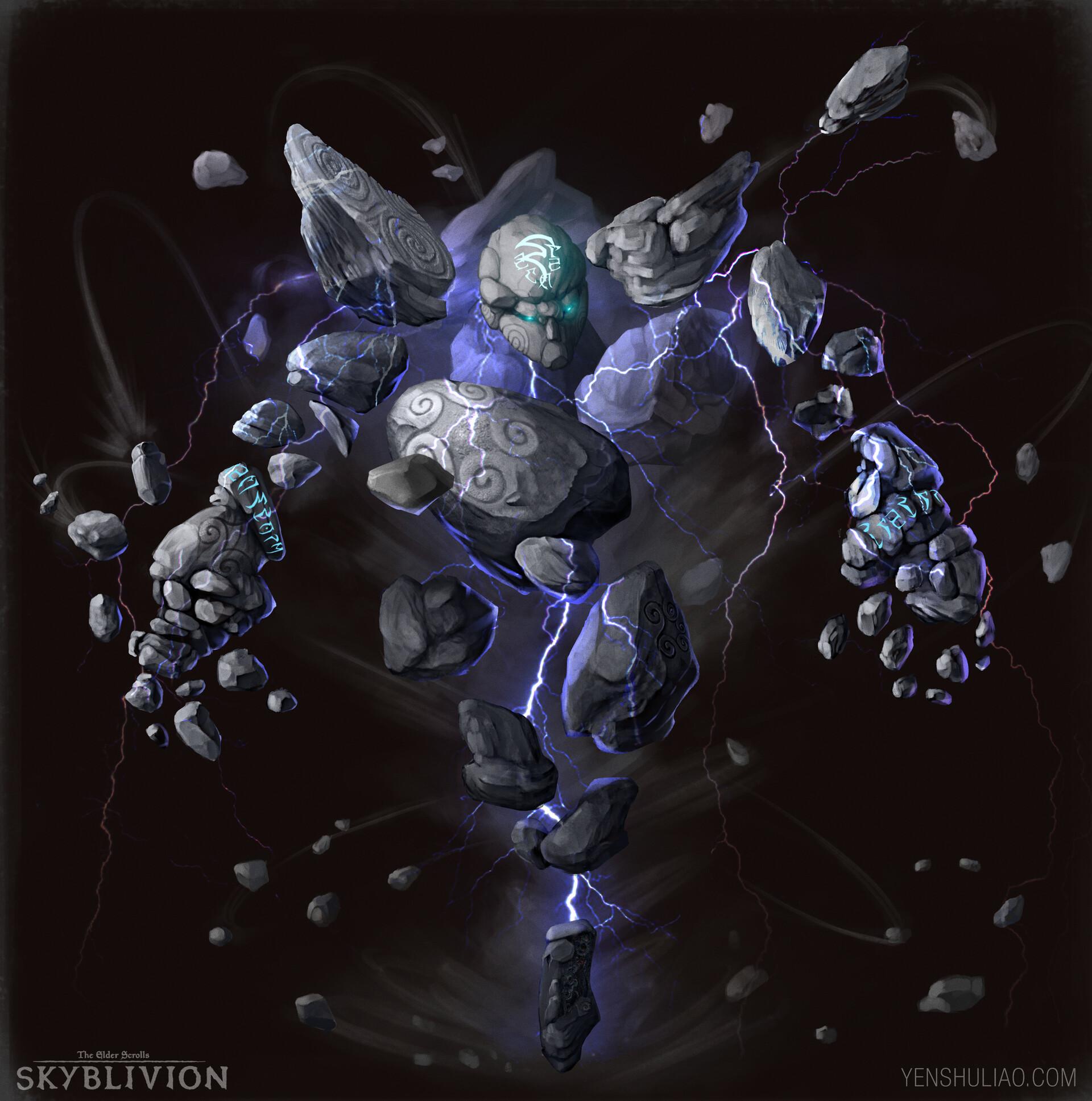 Yen shu liao creature concept elder scrolls skyblivion storm atronach skyrim yenshuliao