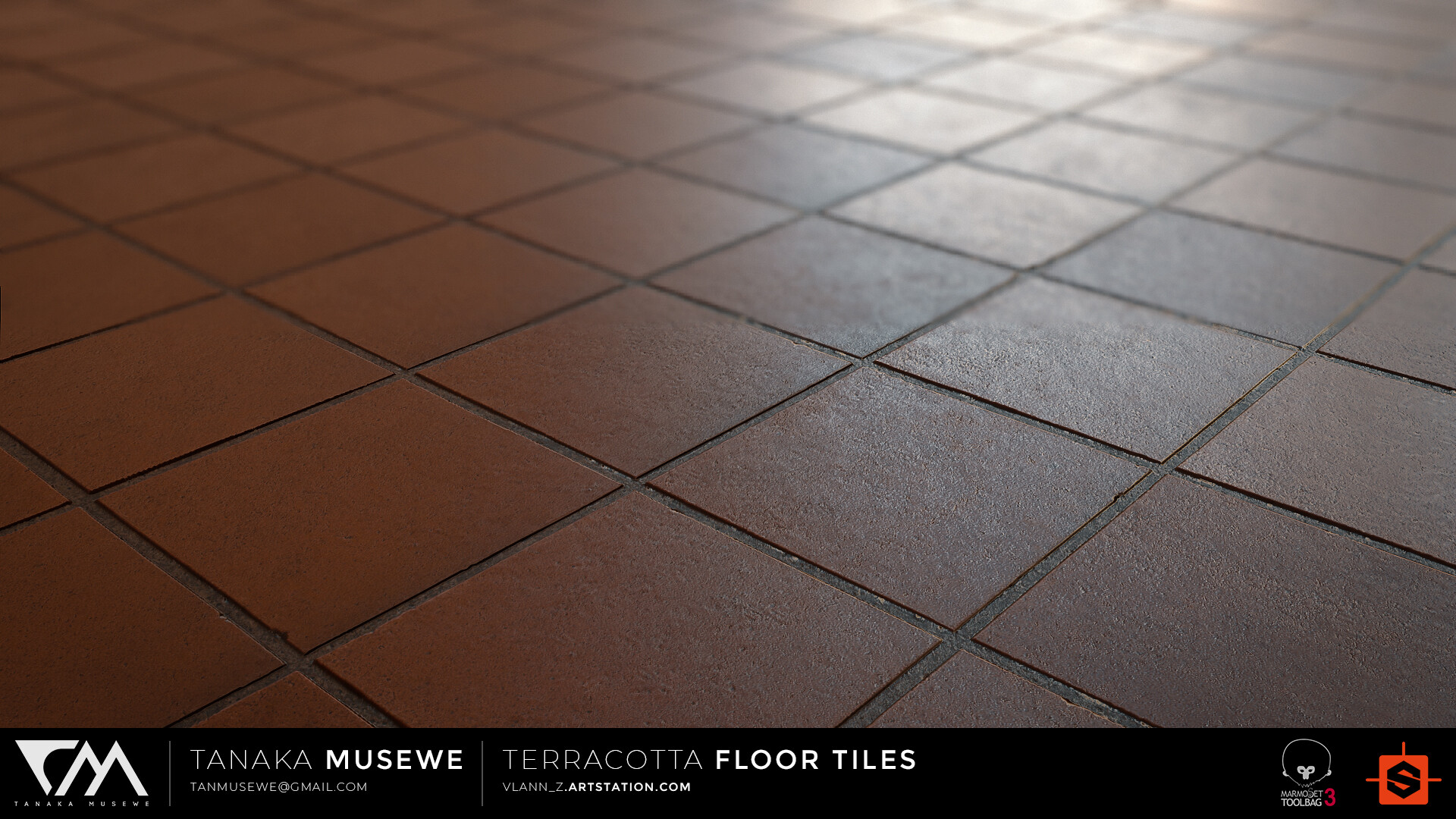 ArtStation - Substance Designer Terracotta Floor Tiles