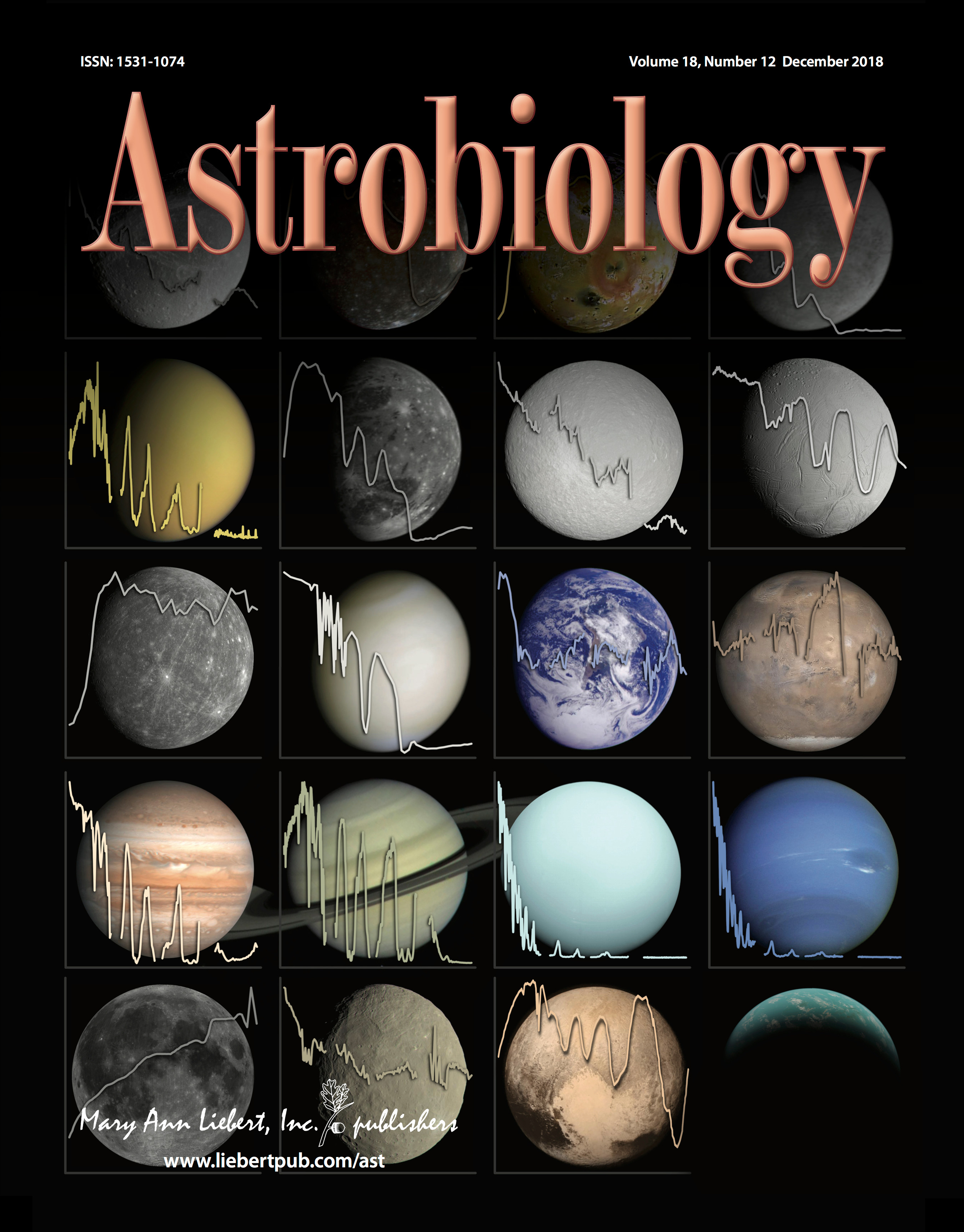 Cover of the December 2018 issue of Astrobiology