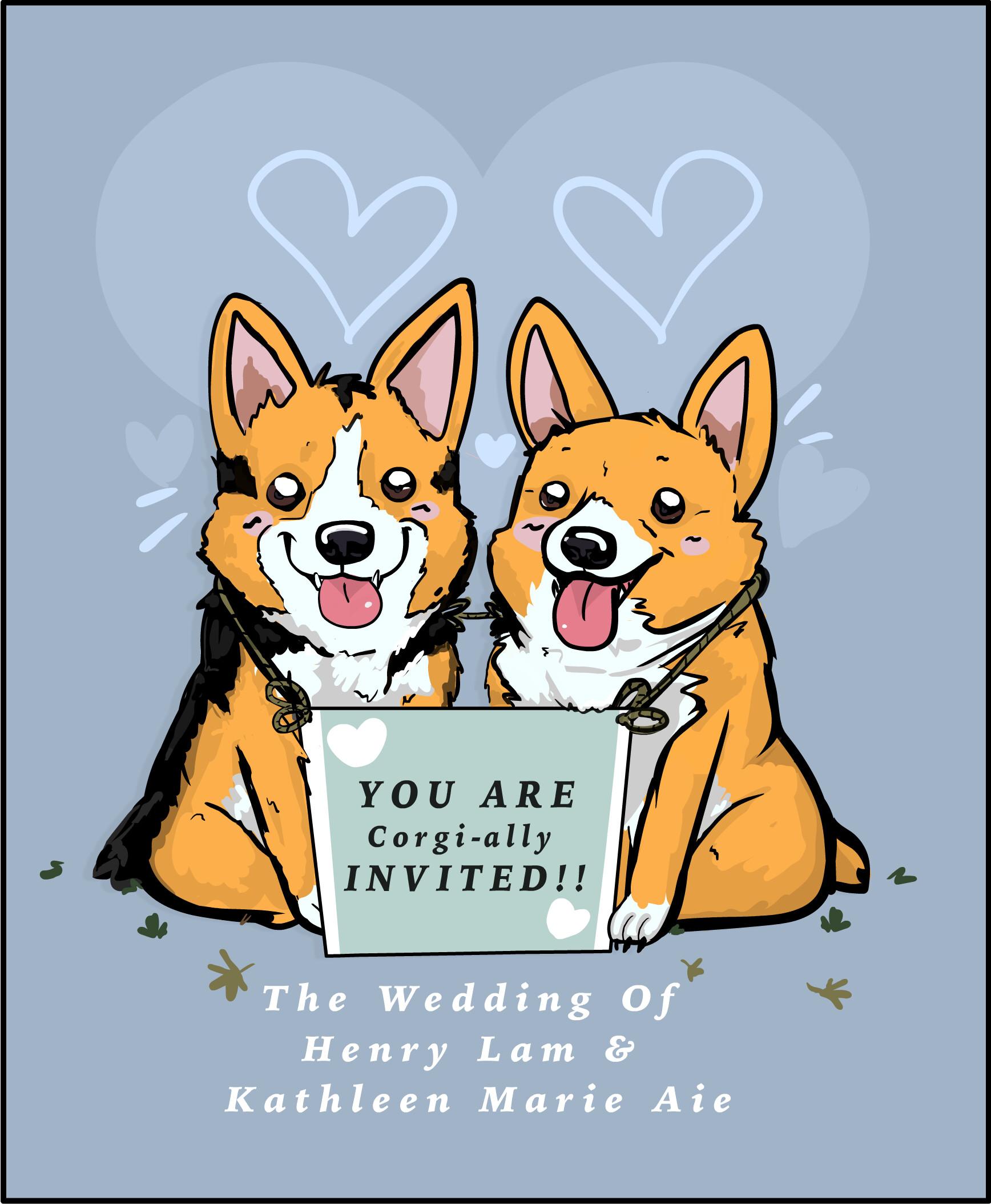 Sam kalensky weddingcorgis