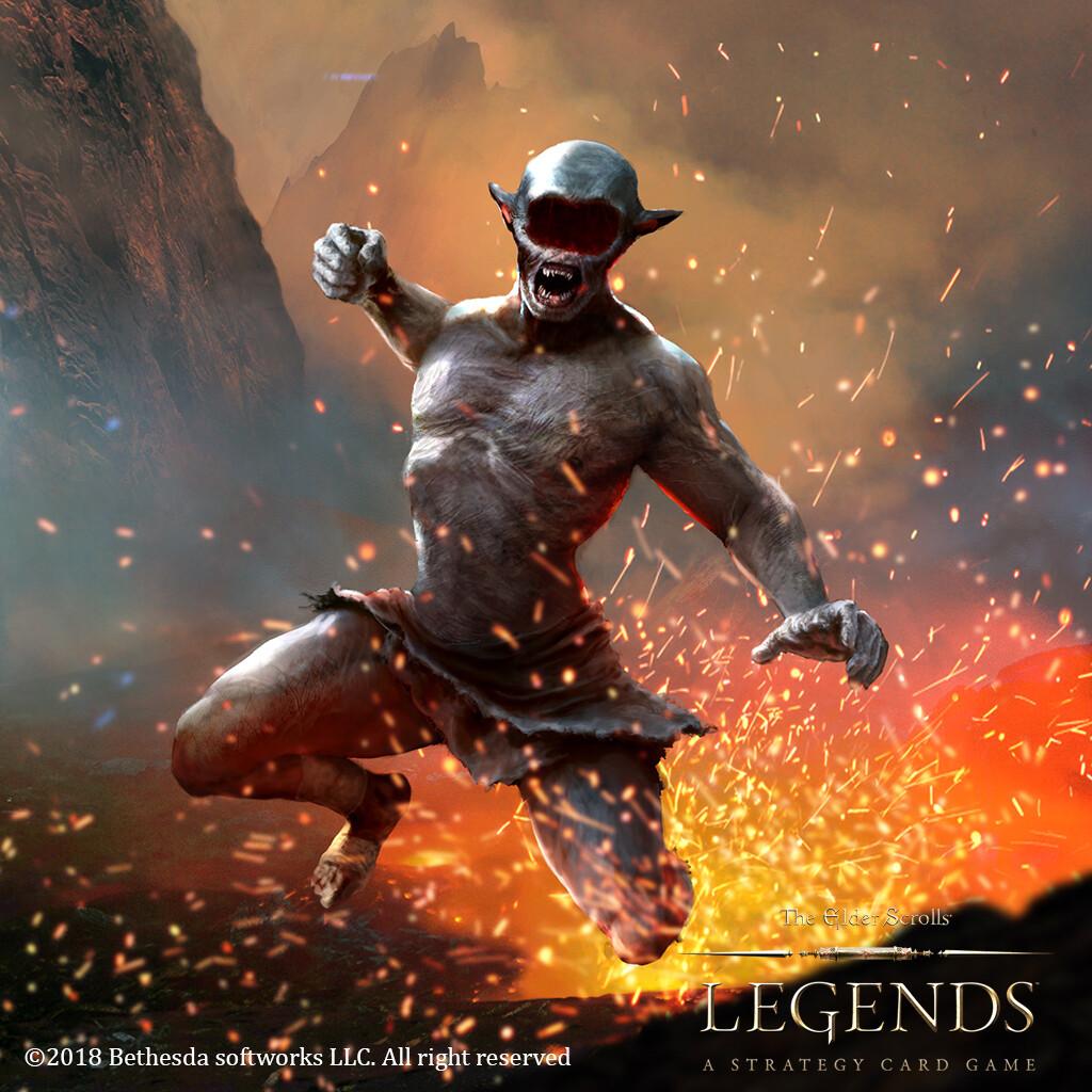 Ash Berserker for The elder scroll legends