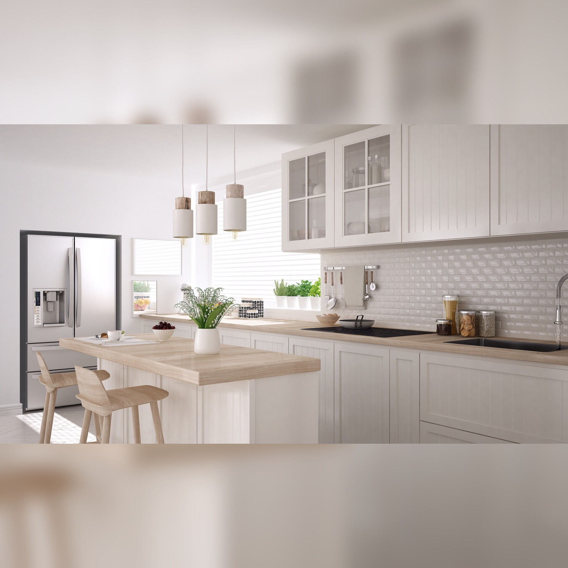Andrea Zen Kitchen Design Render