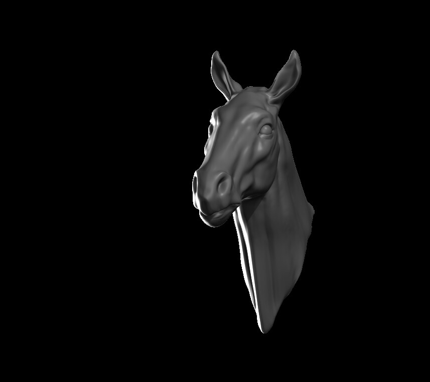 Sculpted horse head