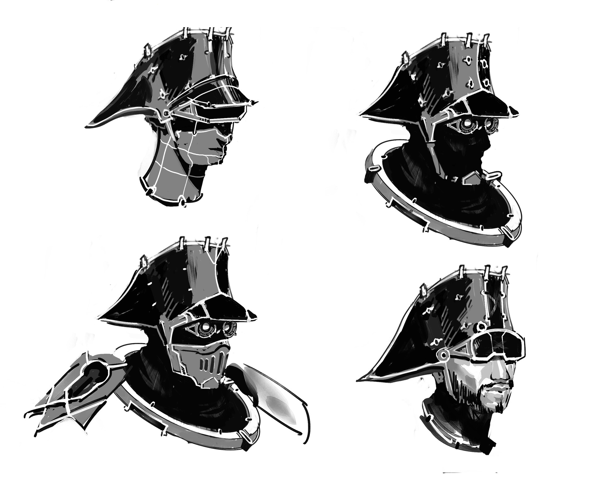 Helmet variations. Having them with helmets made sense for a tactical team, but also saved a bunch of money because faces are hard to do in CG.