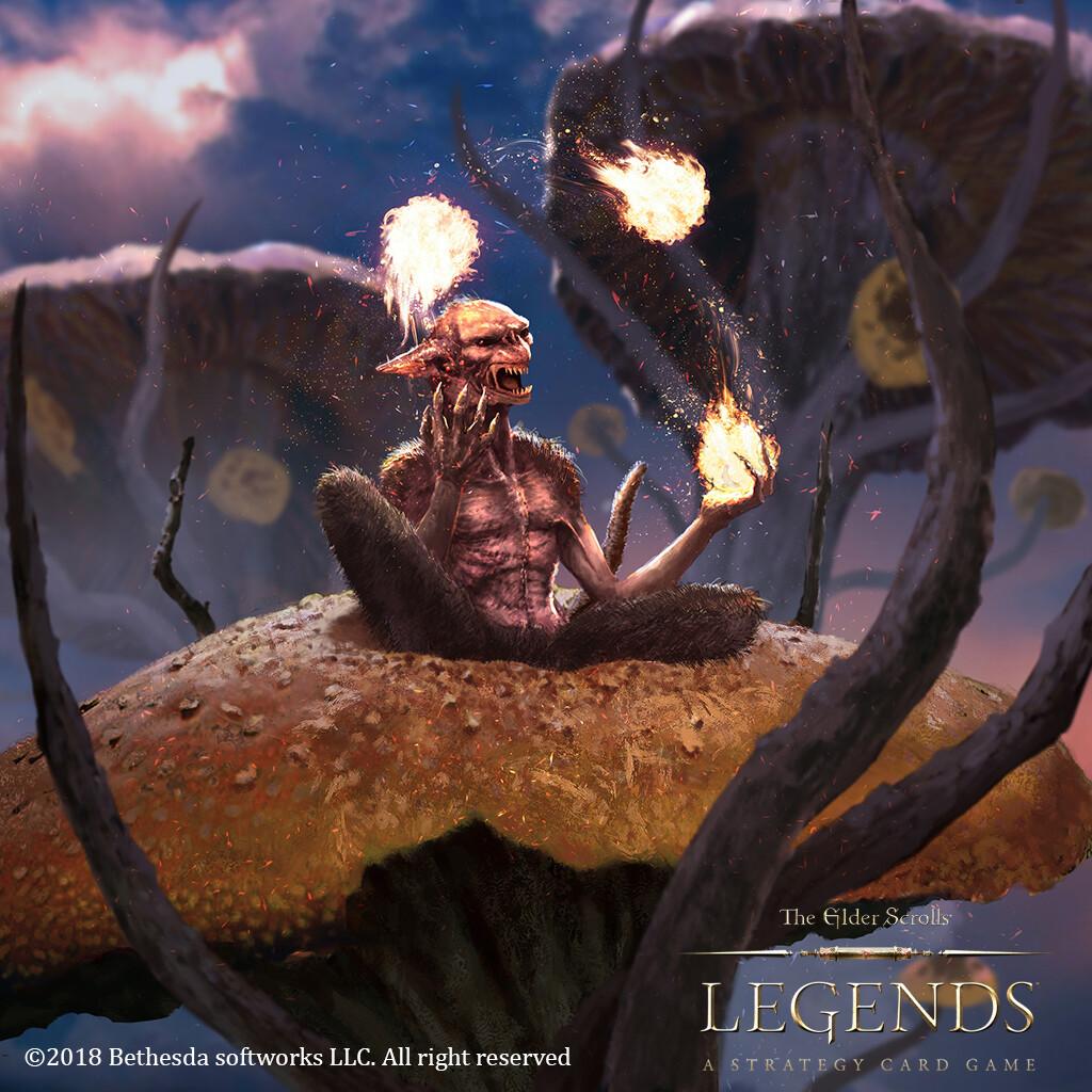 Bedeviling Scamp made for the card game The Elder Scroll Legends