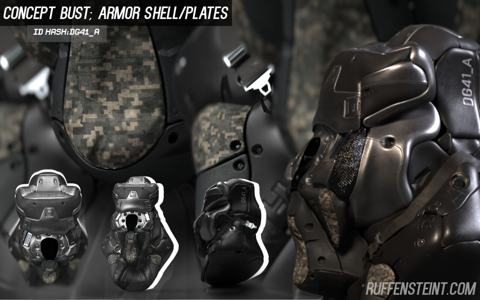DG41_A - Concept Armor Bust; Shelling/Plates