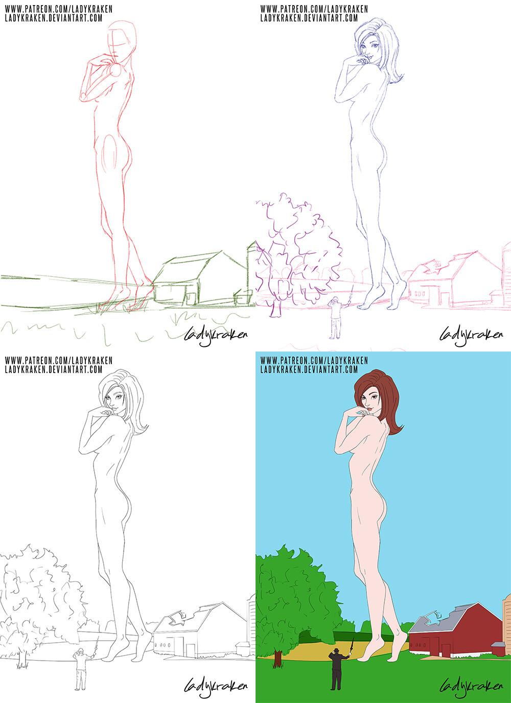 ArtStation - MEGA - EMMA! - Commission, LadyKraken ❤