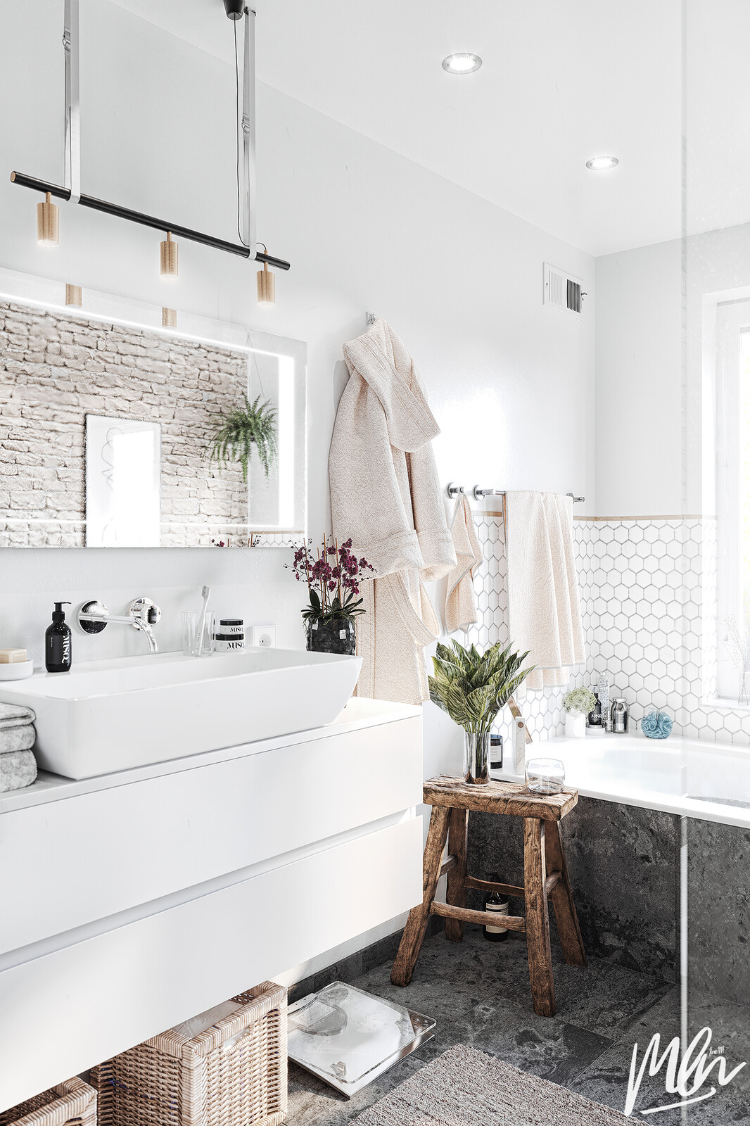 "Scandinavian ""Pinterest"" Bathroom"