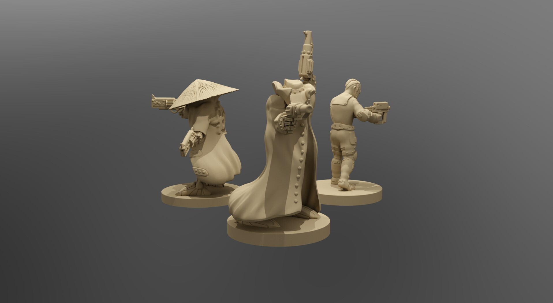 photograph regarding Printable Miniatures called ArtStation - Cyberpunk Outlaws 30mm Printable Miniatures