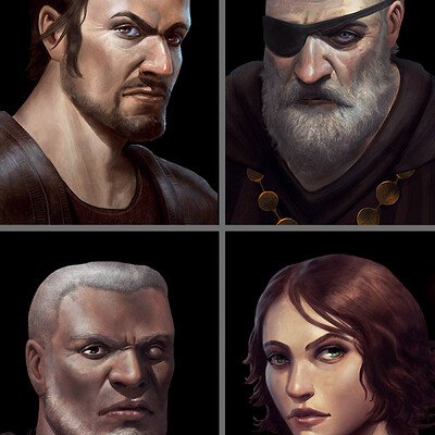 Tadas sidlauskas 4 portraits collage