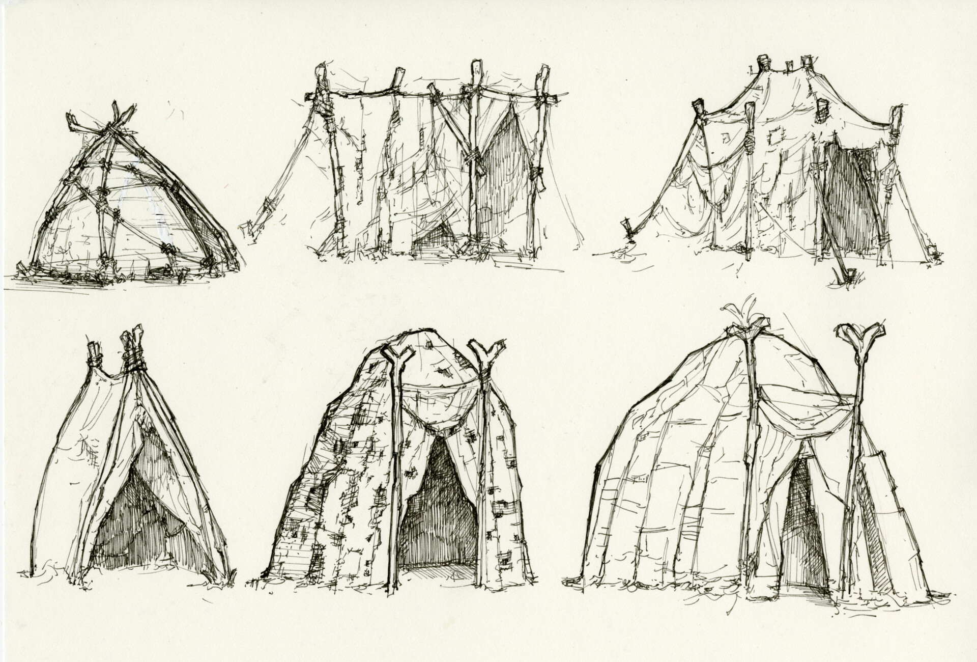Tent ideations | Pen Sketch