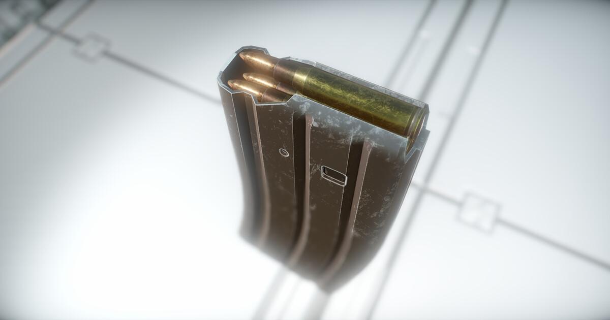 Compact Bullpup Assault Rifle - Magazine Screenshots taken from Unity