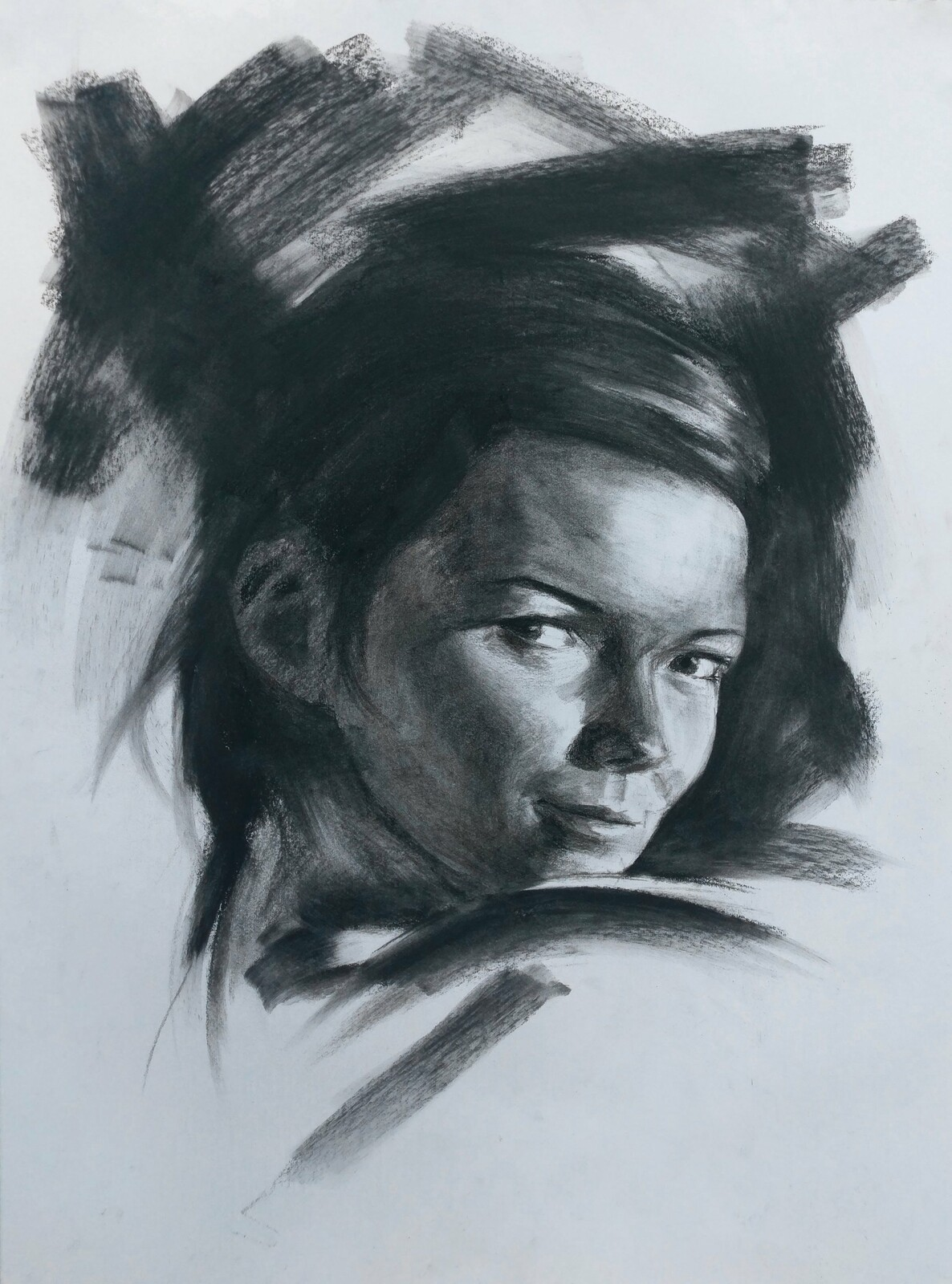 Charcoal Portrait Iv