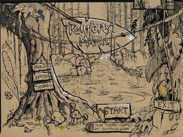 Rainforest Cascade | Main Menu Sketch