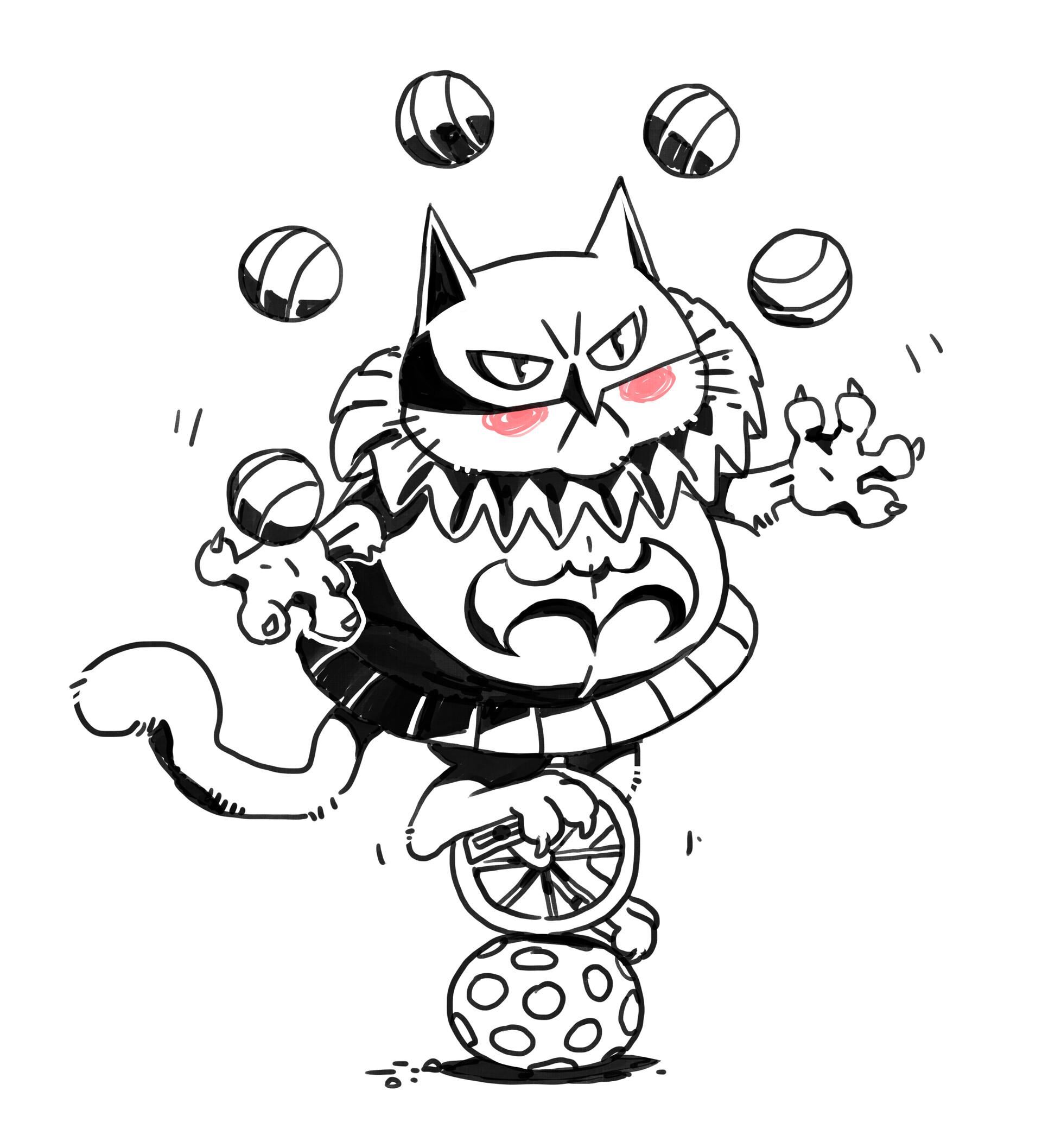 Korina hunjak masked cat jester