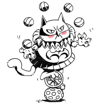 Masked cat jester