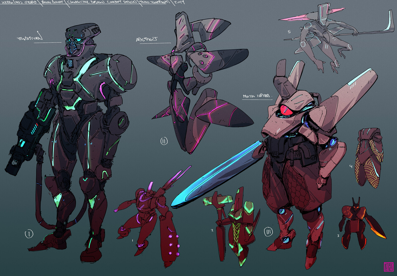 Mecha Character  game design