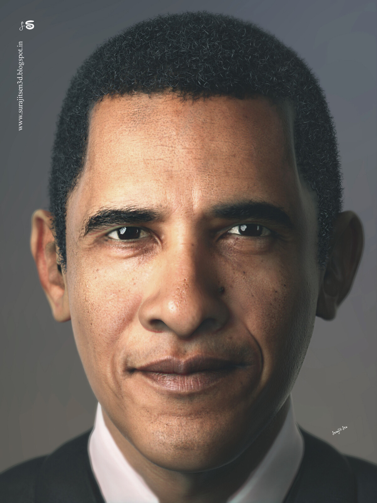 """""""Mr.President""""....CG character.  Wish to share one of my personal RND work . .."""