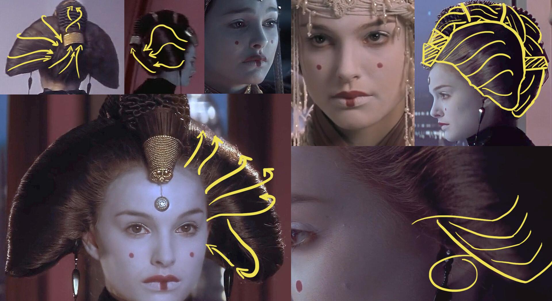Hair reference; based on Amidala's Phantom menace pre-senate appearance.