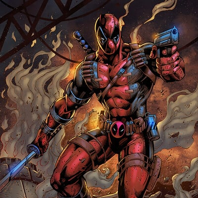 Maksim strelkov deadpool inks by vandal1z 2