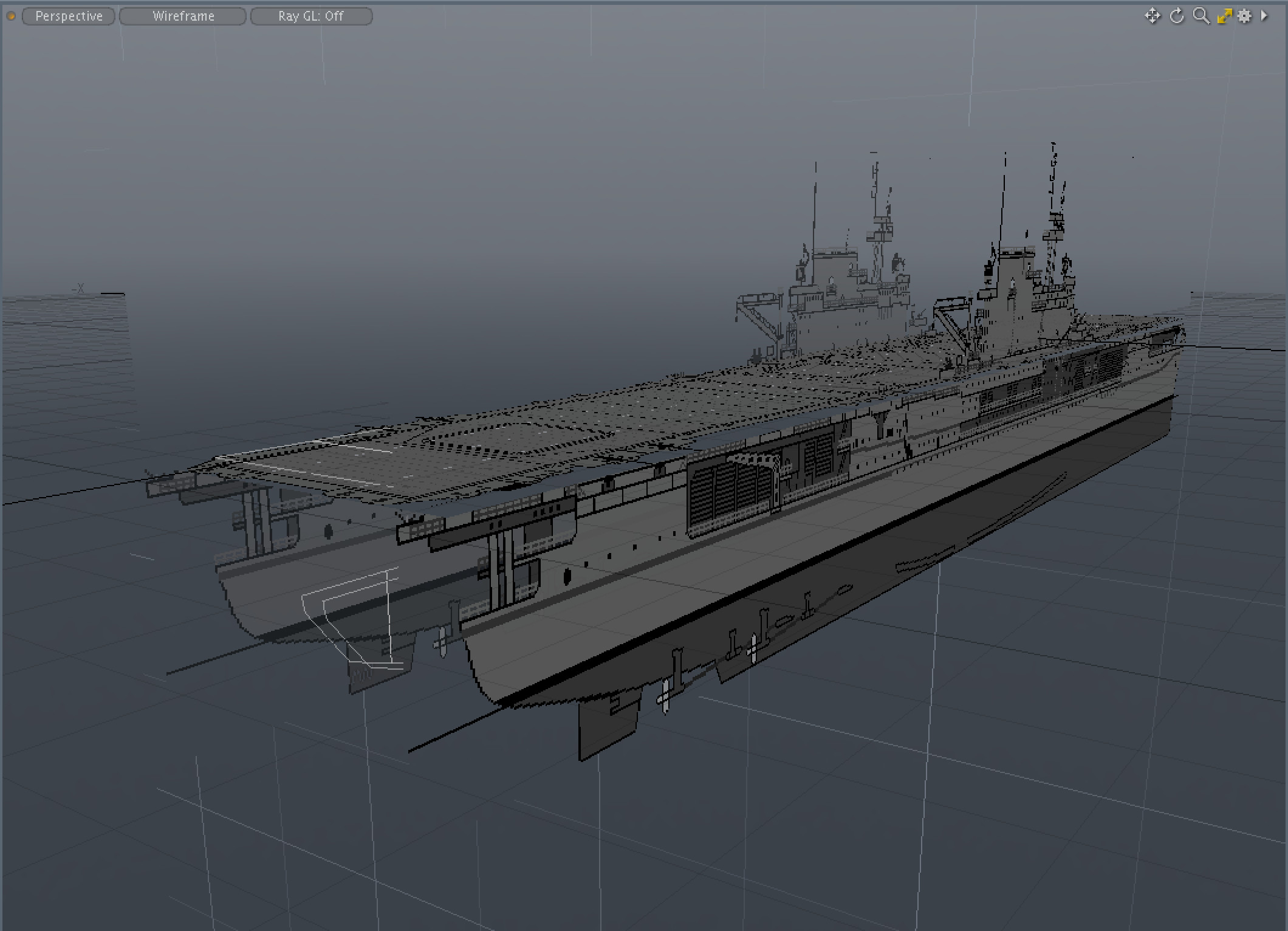 Orthographic views setup on image planes in Modo.