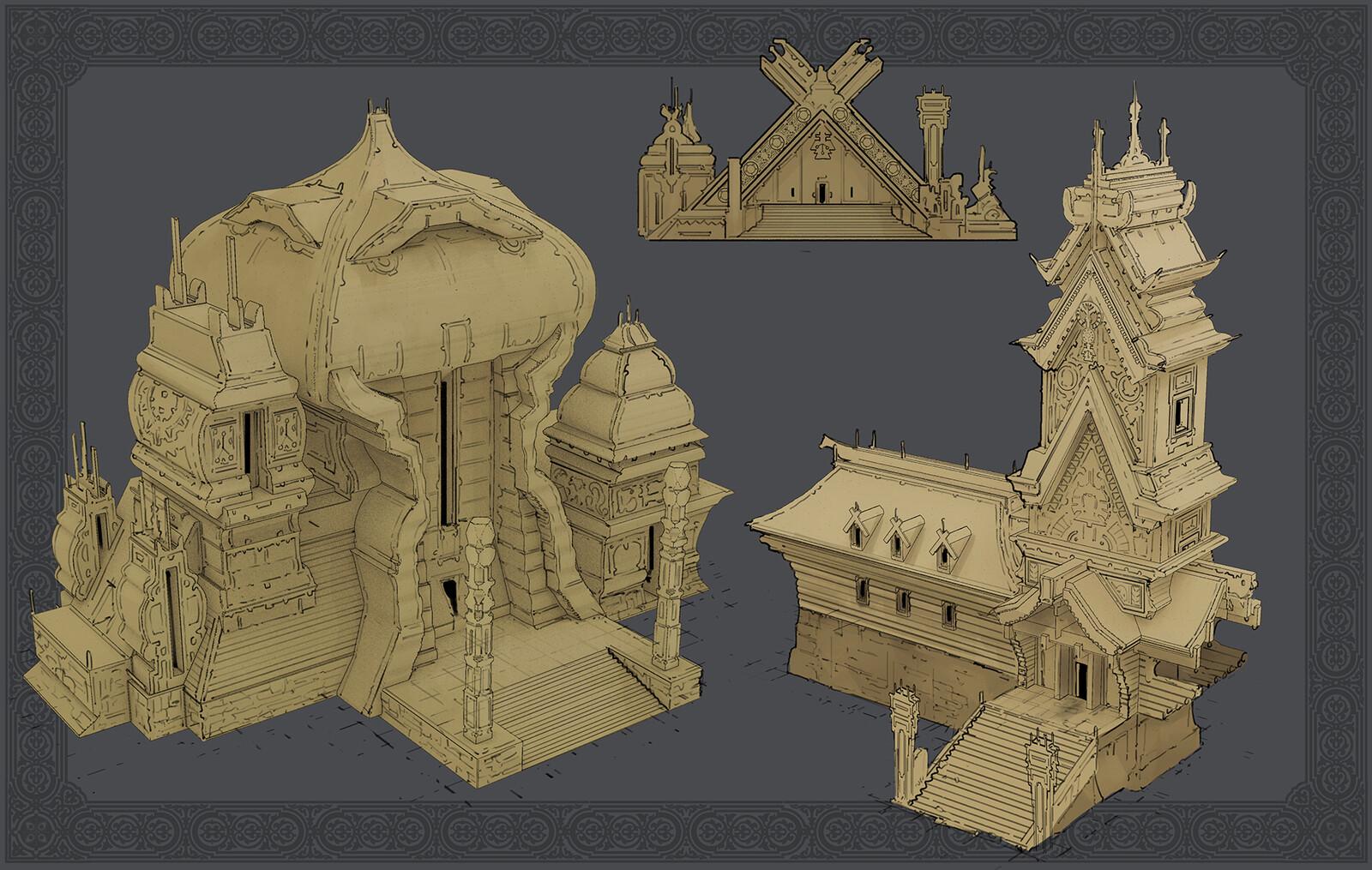 Slavic Temples