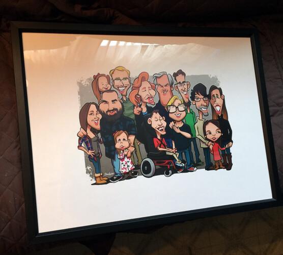 Printed framed gift