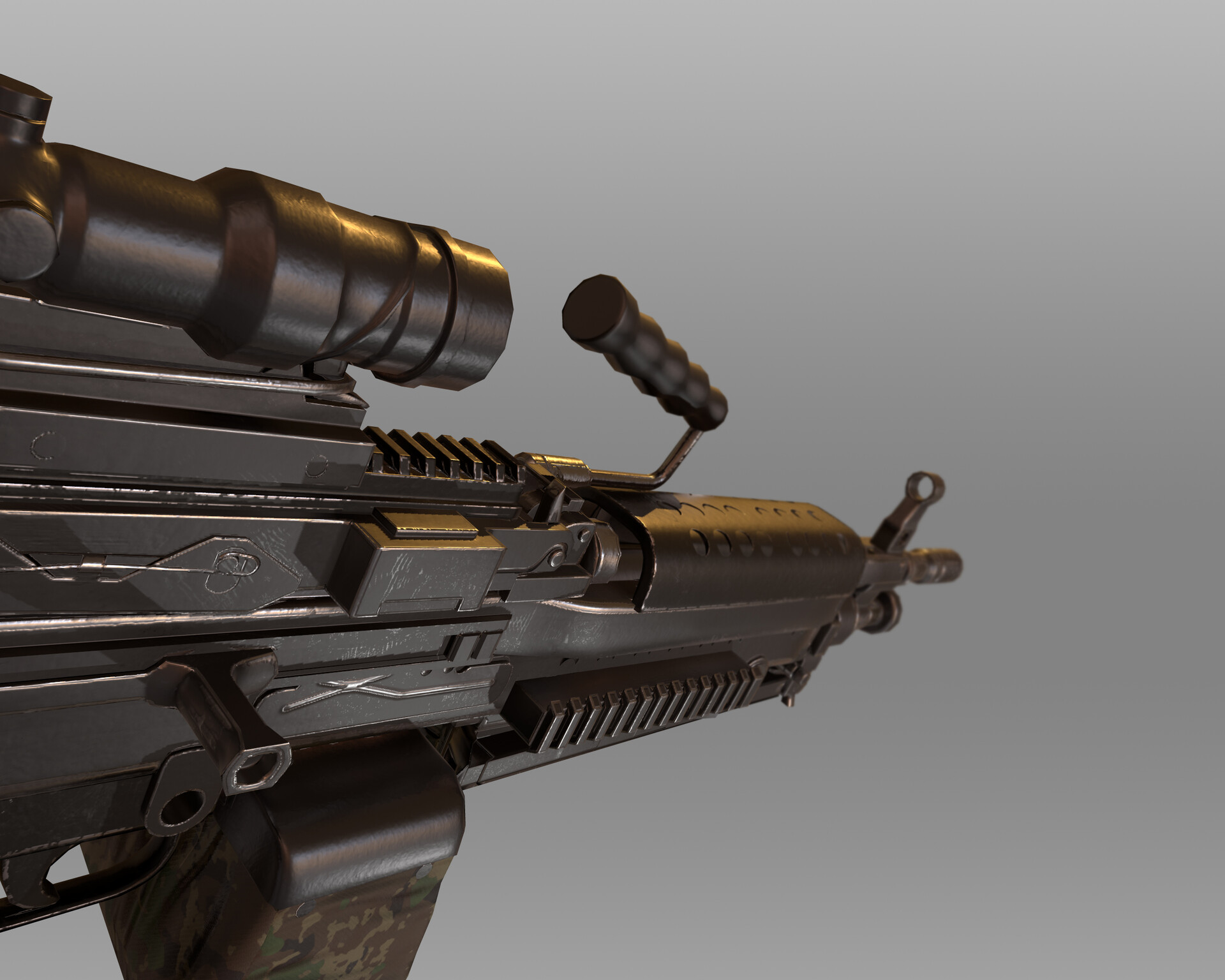 ArtStation - Light Machine Gun M249, Daniel Virgen
