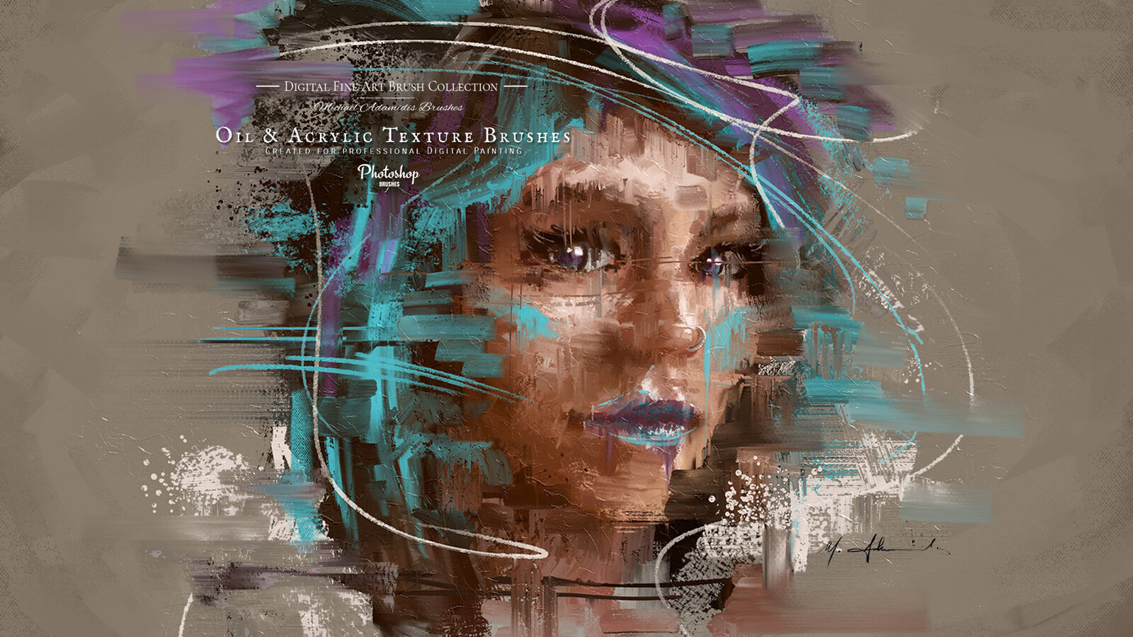 Artstation Abstract Digital Portrait Painting Ma Brushes